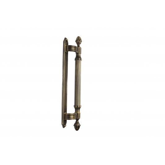 Дверная ручка KING 465 мм - скоба, бронза лакированная фото_1