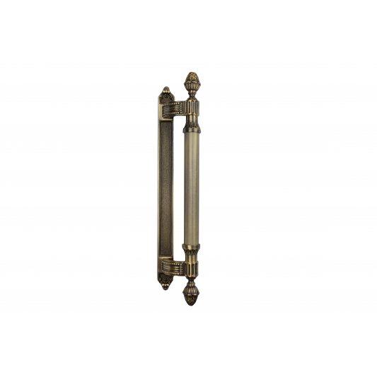 Дверная ручка KING 465 мм - скоба, бронза лакированная
