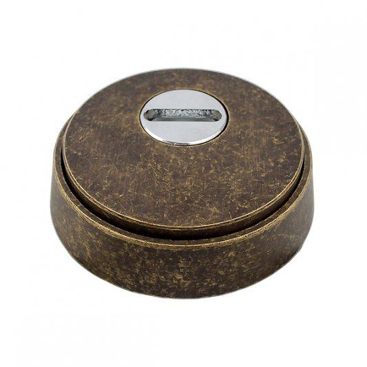 Защитная накладка на цилиндр, для входных дверей, старая бронза фото_2