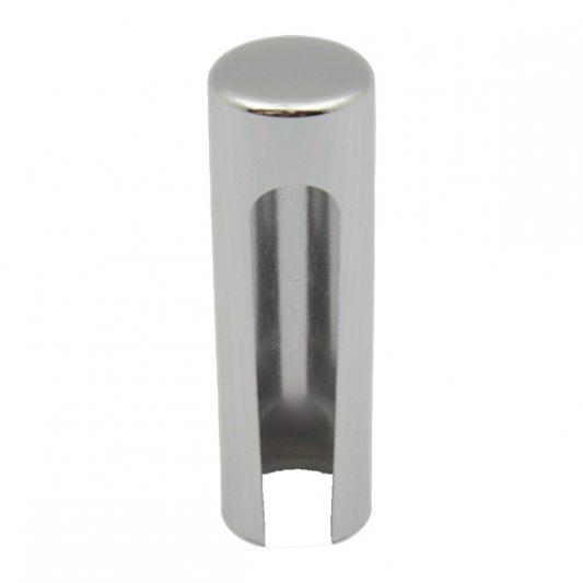 Декоративный колпак на петлю EXACTA, D15,алюминиевый, хром полированный