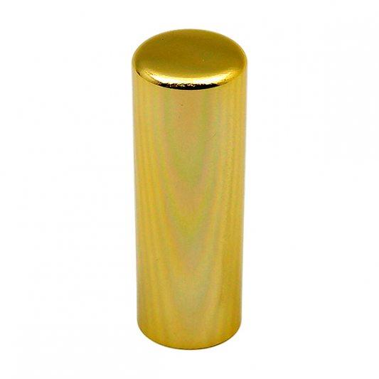 Декоративный колпак на петлю EXACTA, D17, алюминиевый, латунь полированная фото_2