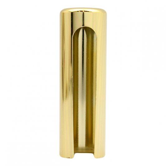 Декоративный колпак на петлю EXACTA, D21, алюминиевый, латунь полированная фото_2