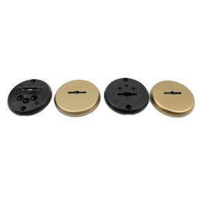 Накладки из латуни для сувальдных замков с втулкой - направляющей для ключа
