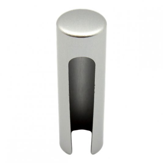 Декоративный колпак на петлю EXACTA, D15, алюминиевый, хром матовый