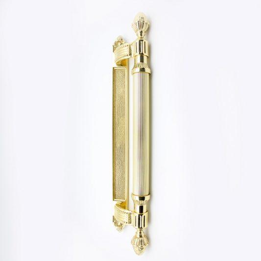 Дверная ручка KING 465 мм - скоба, латунь полированная фото_1