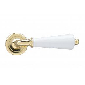 Дверная ручка ERICE, латунь полированная