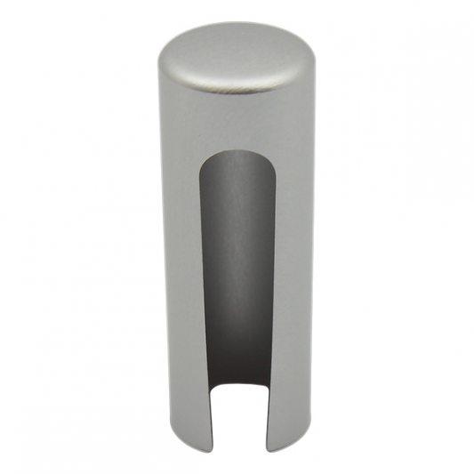Декоративный колпак на петлю EXACTA, D15, алюминиевый, хром матовый фото_1