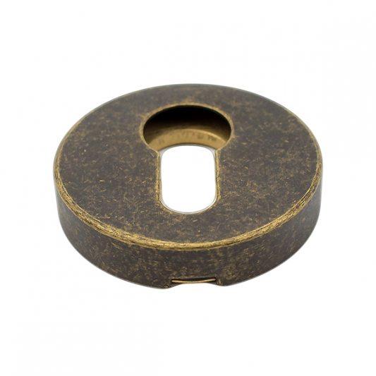 Защитная накладка на цилиндр, для входных дверей, старая бронза фото_5