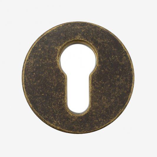 Защитная накладка на цилиндр, для входных дверей, старая бронза фото_6