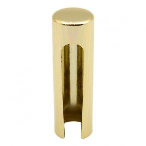 Декоративный колпак на петлю EXACTA, D15,алюминиевый, латунь полированная