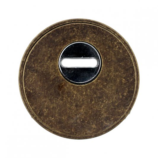 Защитная накладка на цилиндр, для входных дверей, старая бронза фото_3