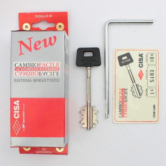 Замок для входных металлических дверей, сувальдный с перекодировкой и ключом для монтажа, New CambioFacile фото_2