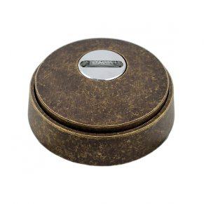 Защитная накладка на цилиндр, для входных дверей, старая бронза