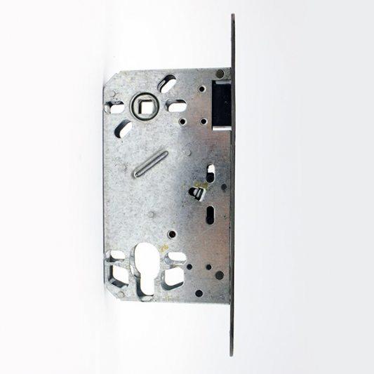 Замок межкомнатный магнитный, под цилиндр, покрытие бронза лакированная фото_2