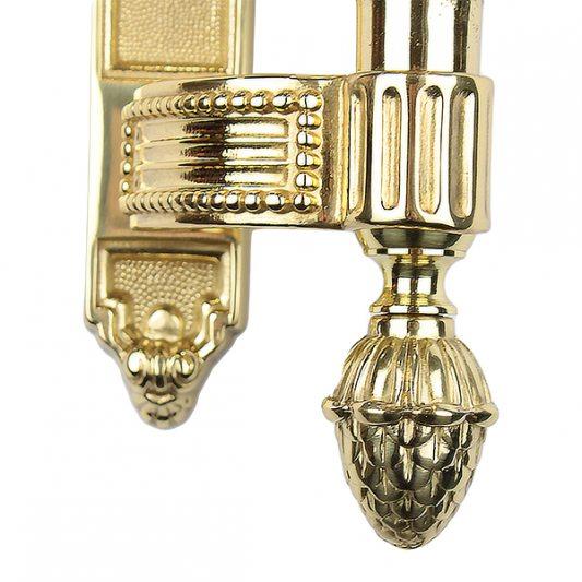 Дверная ручка KING 465 мм - скоба, латунь полированная фото_2