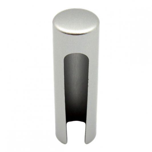 Декоративный колпак на петлю EXACTA, D17, алюминиевый, хром матовый фото_3