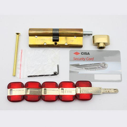 Цилиндр фигурный RS3, лазерный ключ с подвижным элементом