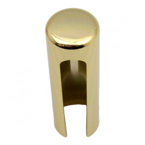Декоративный колпак на петлю EXACTA, D21, алюминиевый, латунь полированная