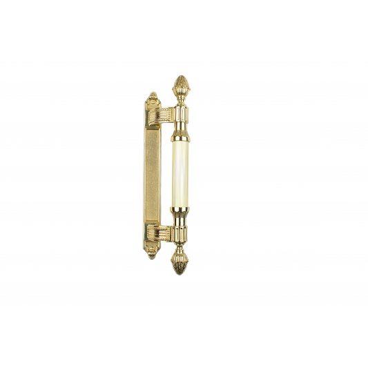 Дверная ручка KING 365 мм - скоба, латунь полированная