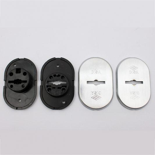 Накладки из латуни для сувальдных замков с втулкой - направляющей для ключа, овальные