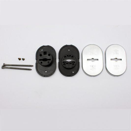 Накладки из латуни для сувальдных замков с втулкой - направляющей для ключа, овальные фото_2