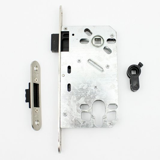 Замок межкомнатный магнитный, фиксация туалет/ванная, матовый никель