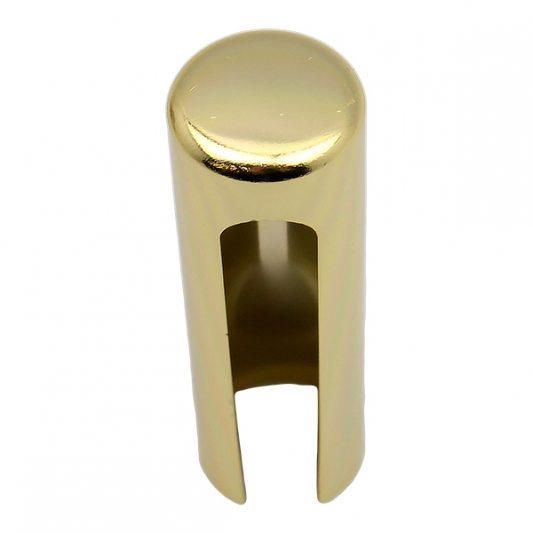 Декоративный колпак на петлю EXACTA, D21, алюминиевый, латунь полированная фото_1