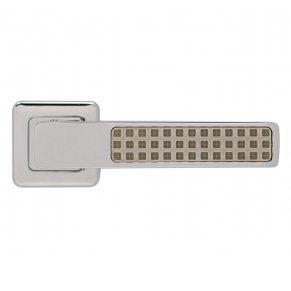 Дверная ручка CLOUD 2 night (люминисцентные квадраты), хром полированный