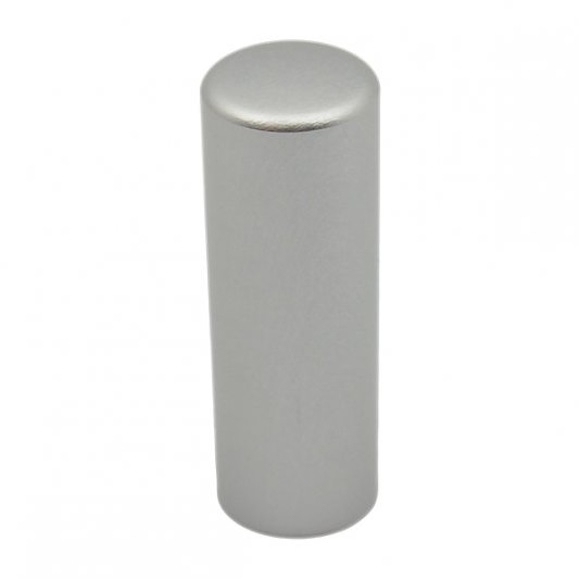 Декоративный колпак на петлю EXACTA, D15, алюминиевый, никель матовый фото_2