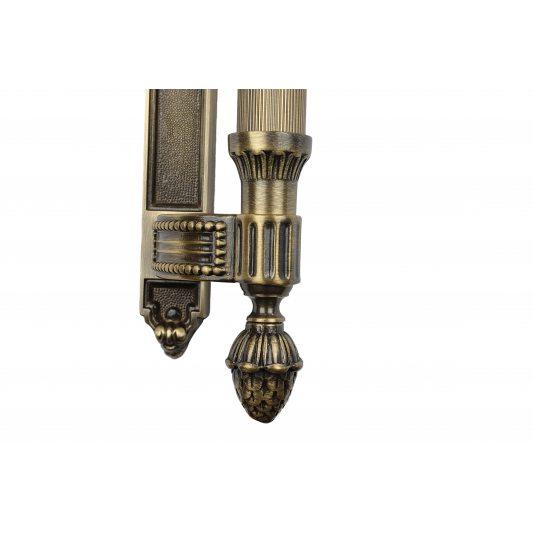 Дверная ручка KING 465 мм - скоба, бронза лакированная фото_2